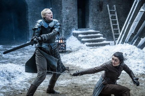 Brienne is me. Arya is all of my foster kittens refusing to get off the kitchen bench.