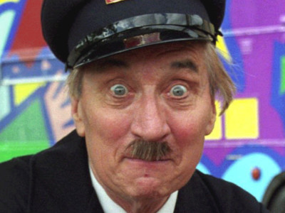 """""""This recycled On the Buses image gag from the E1 recap was due out of here 10 minutes ago!"""""""