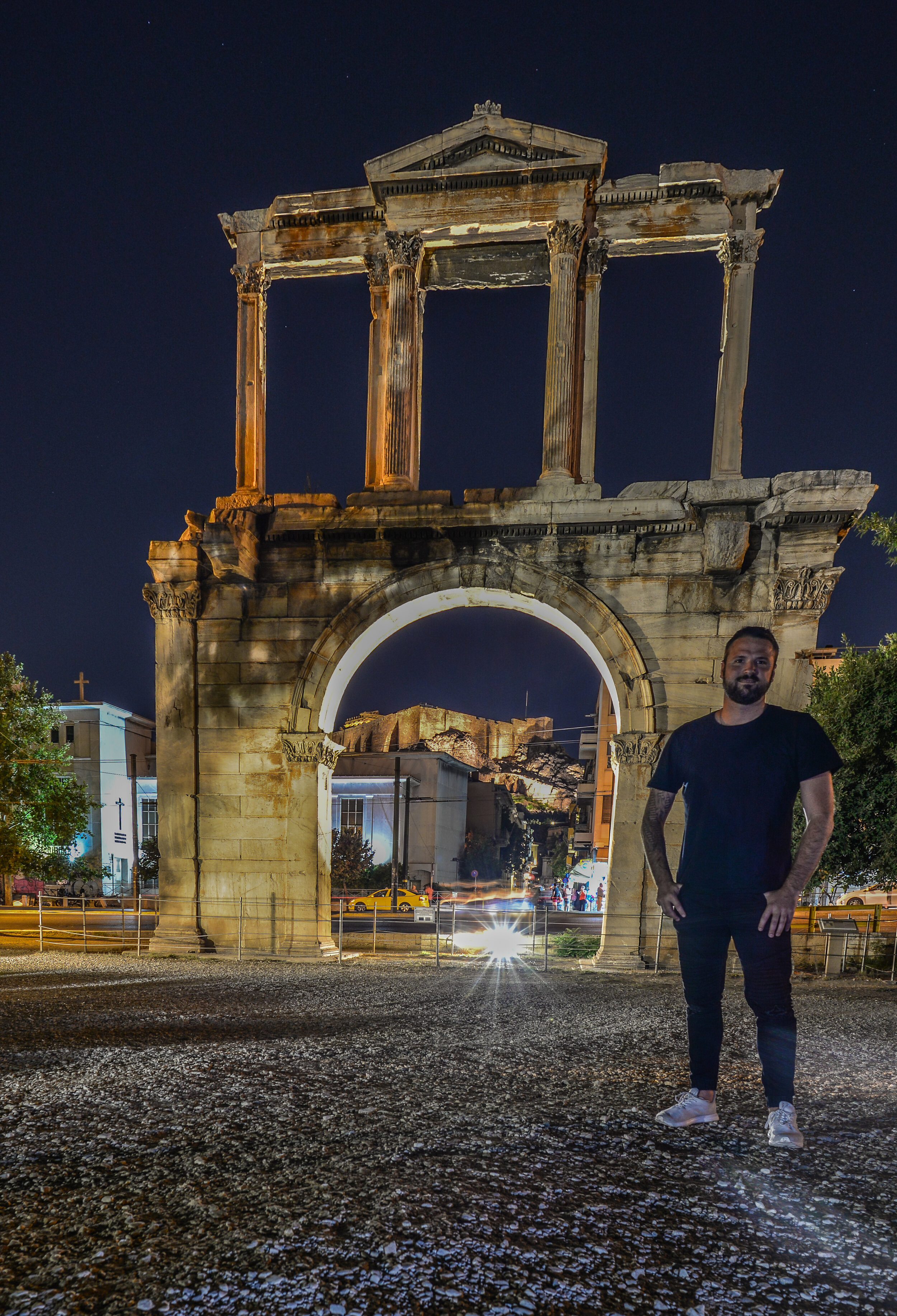 My first sight of the Parthenon under the Hadrian gate