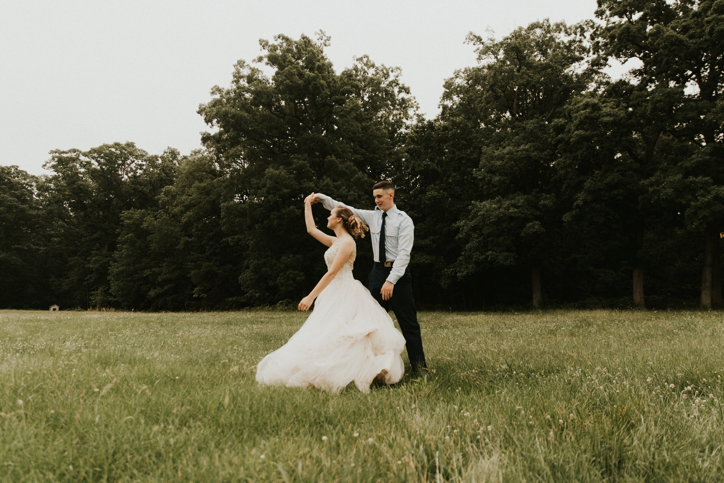 first dance in a field