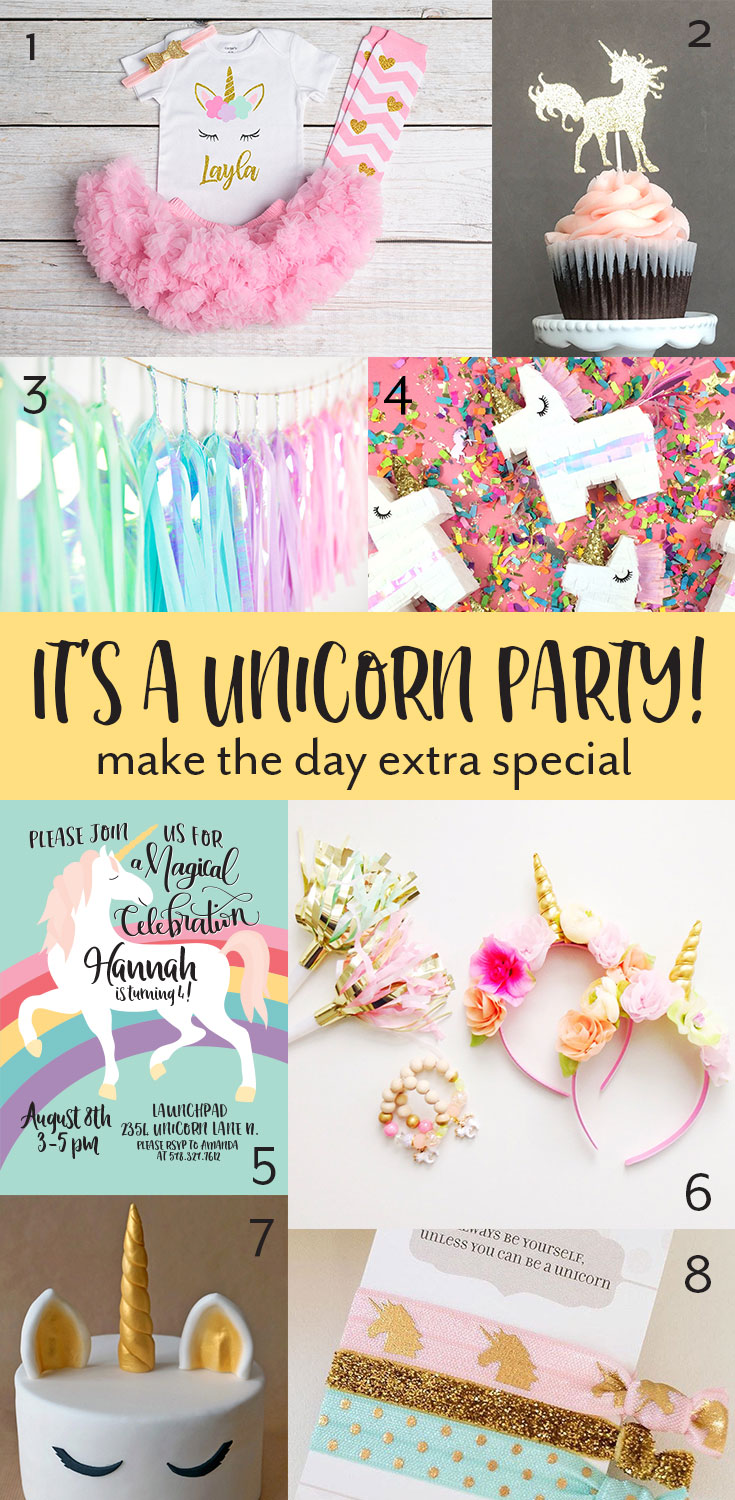 Among the Younger girly set, Unicorns have become all the rage! What better way to celebrate than with a Unicorn themed birthday party? Click through to find all the perfect items for her magical unicorn party >>>