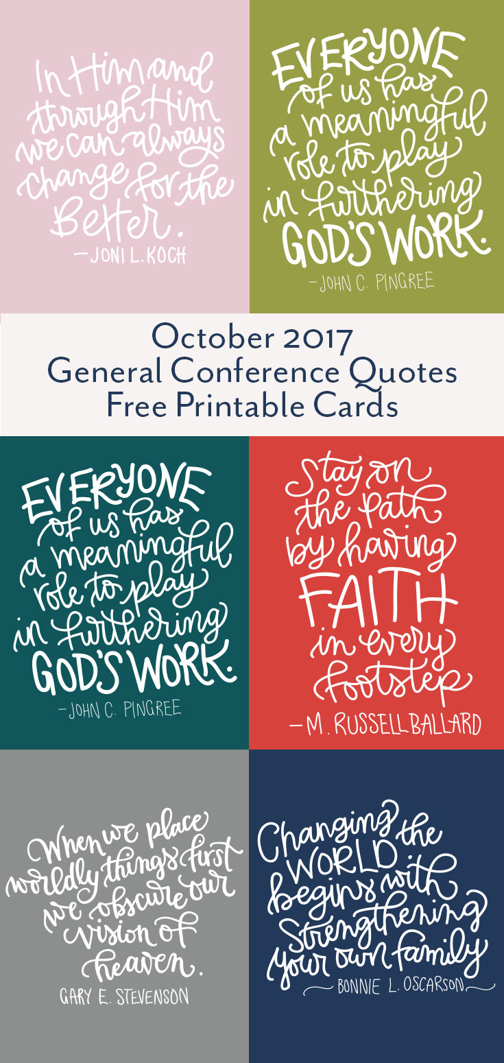 Favorite Quotes from October 2017 LDS General Conference