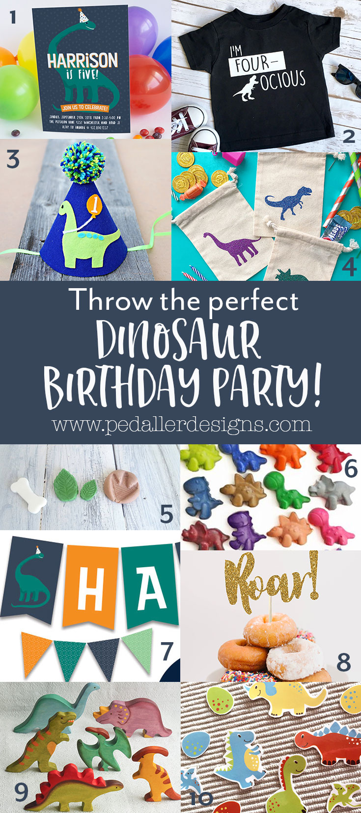 Everything you need for your dinosaur loving boy is here to make his birthday party the most memorable one yet!