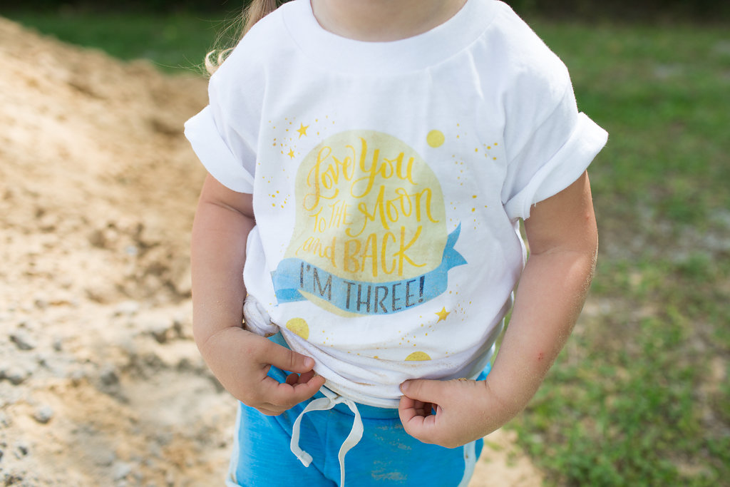 Love you to the Moon and Back Birthday Tshirt