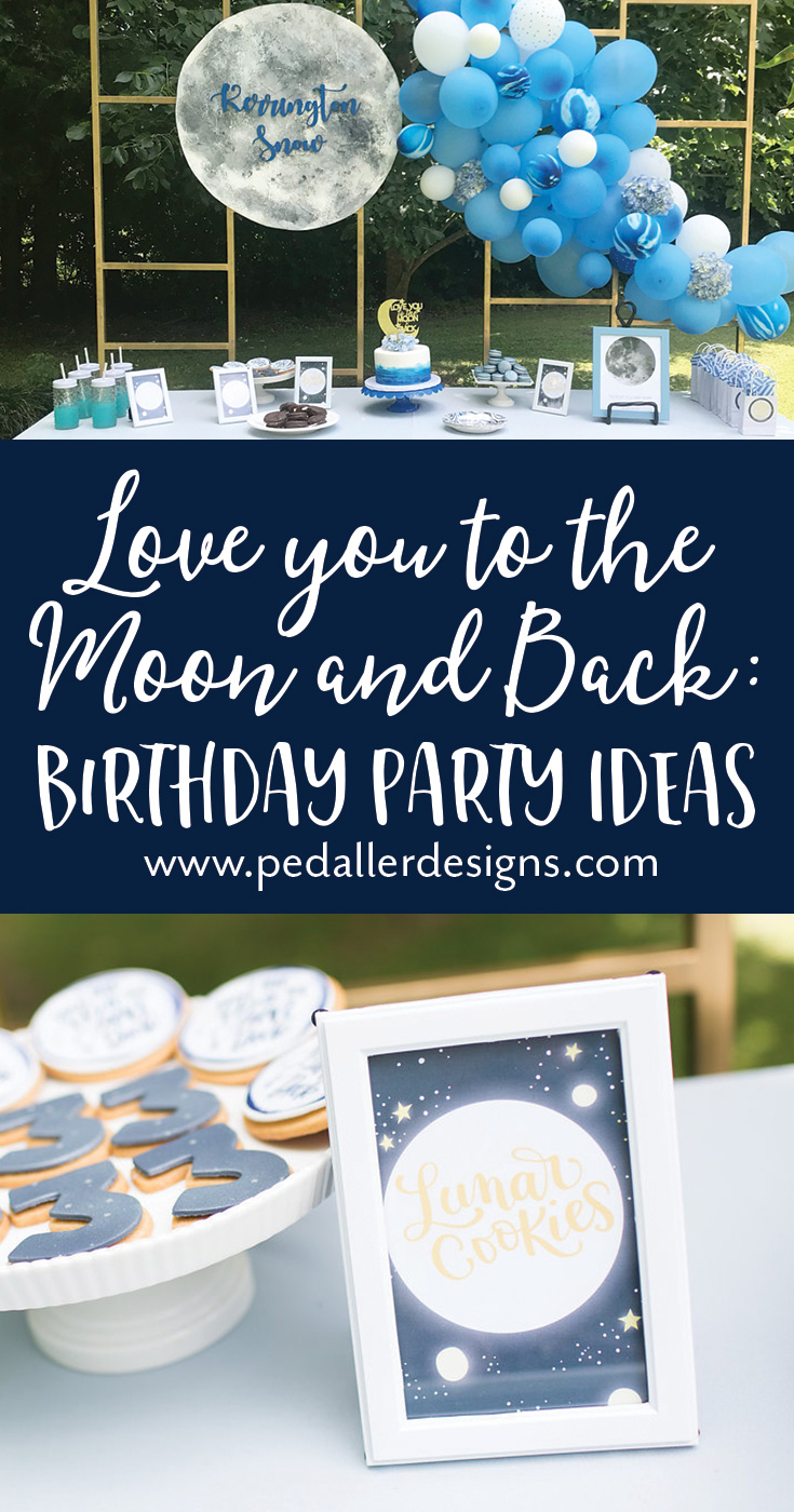 Sweet ideas and free printables to make your little boy or girl's Love you to the Moon and Back birthday a stellar success!