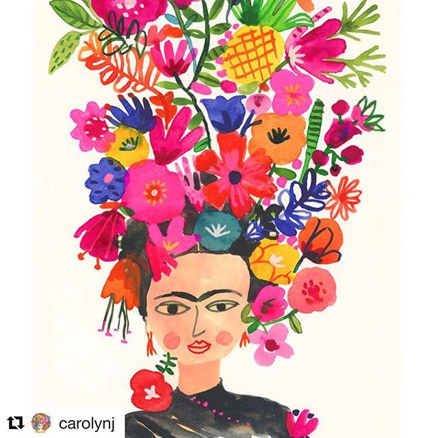 #Repost @carolynj ・・・ Happy 110th birthday Frida. ♥️ #fridakahlo  Print available in my Etsy shop #styleinspiration #styleicon #carolyngavin #carolyngavinsketchbook @etsyca @etsy #carolyngavinetsyprint