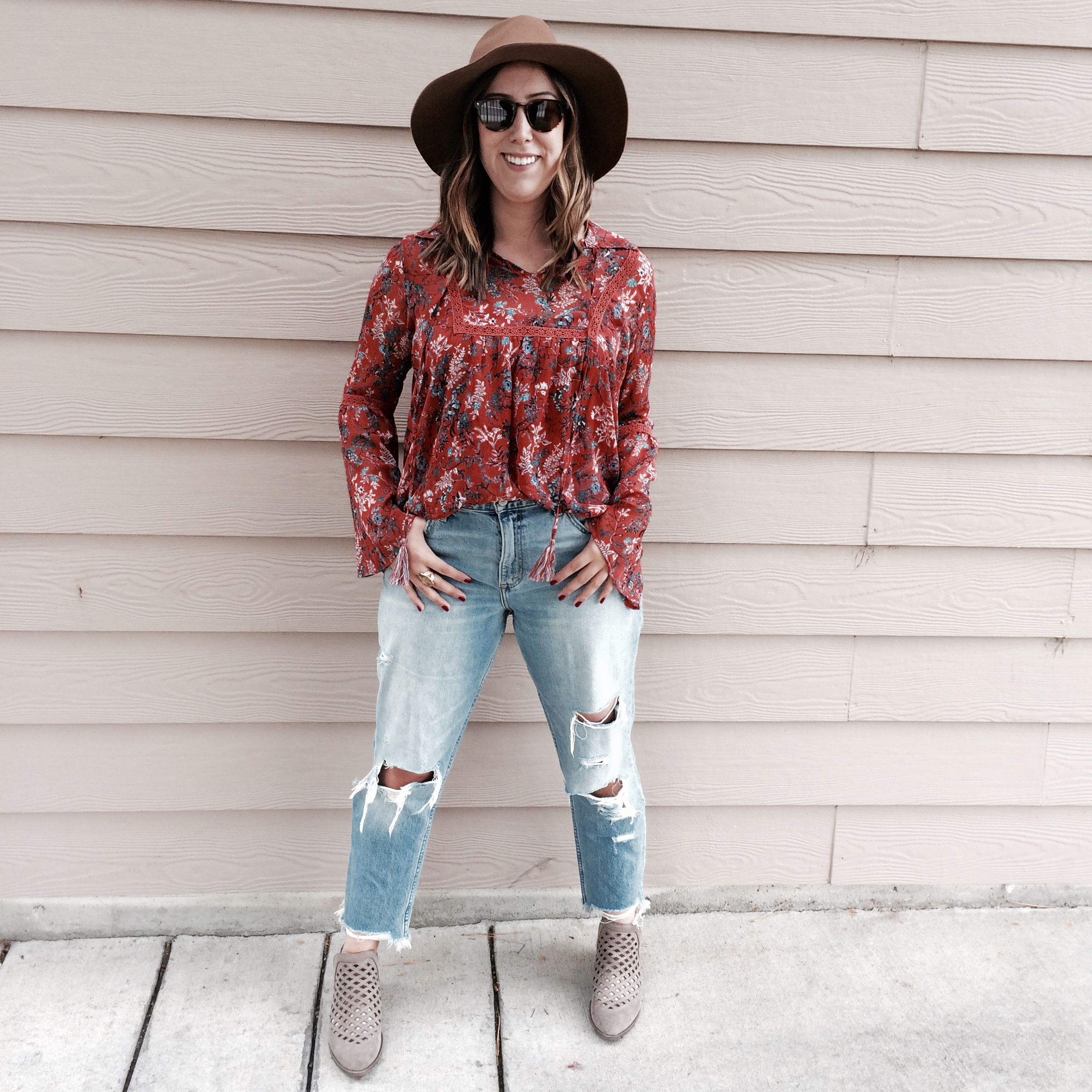 This fourth look is my favorite!Perfect for a fall festival or a lunch date.