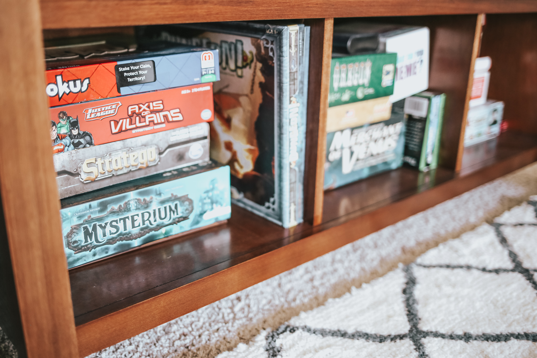 perfect storage for all of ouR board games. does anyone else love game night as much as me!?