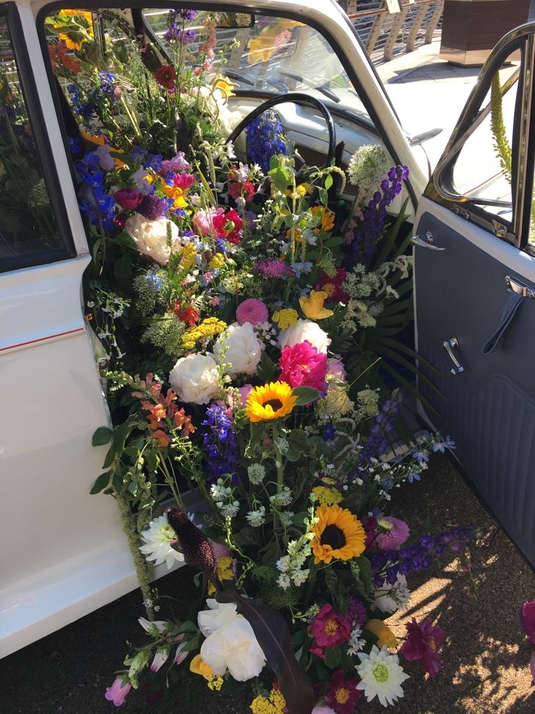 Fever Tree Flower Car for taste of Dublin