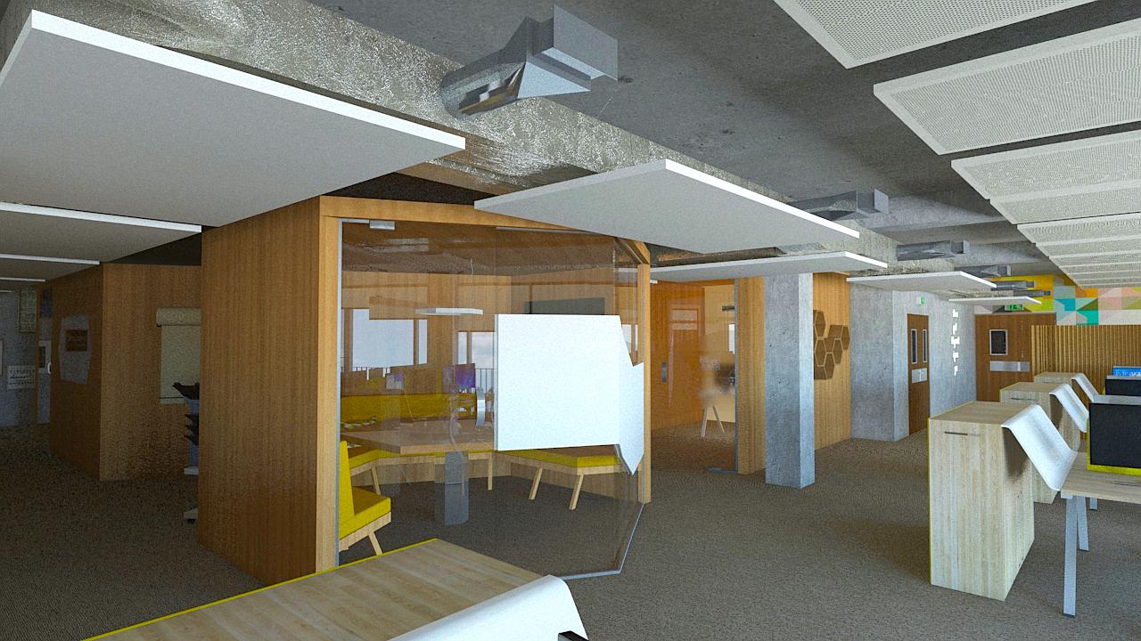 3D rendering - QUANTA building Marseille