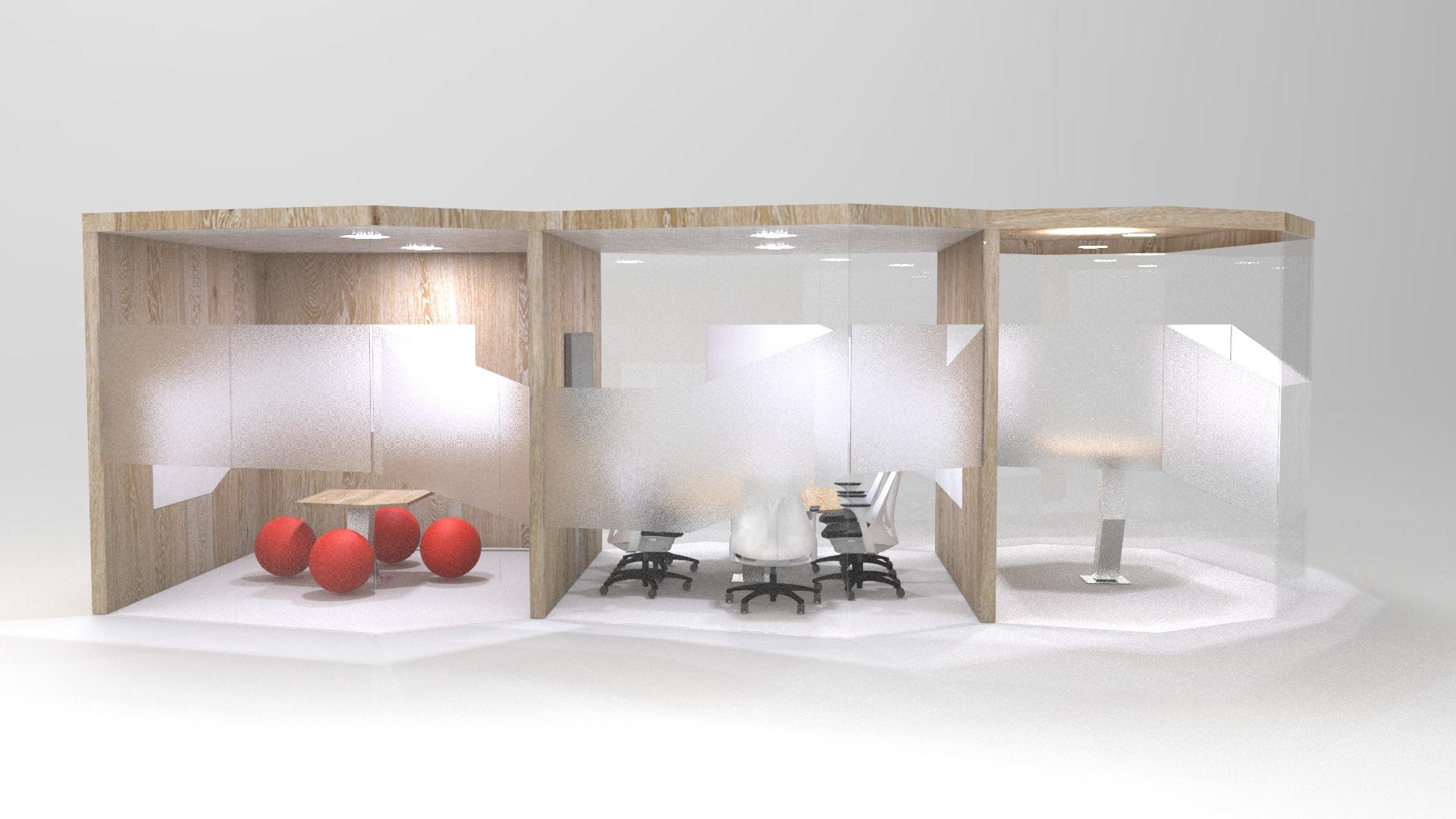 Set of 3 meeting rooms