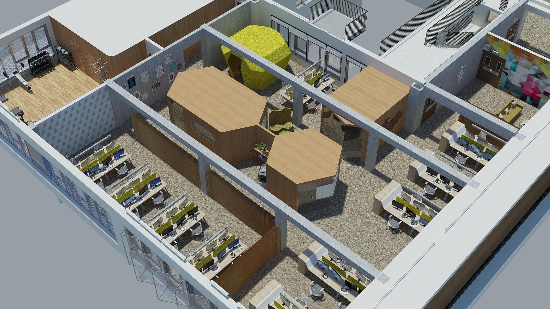 Rendu 3D - Space planing