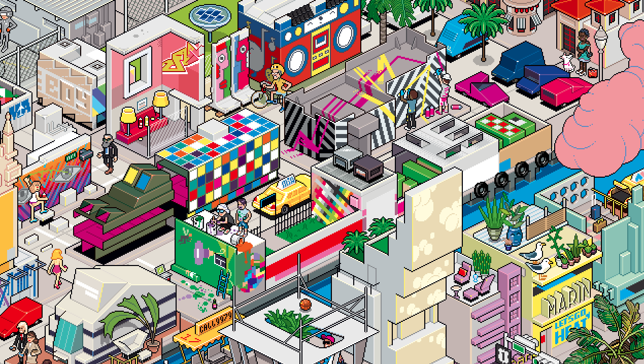 Wynwood in Pixel Art