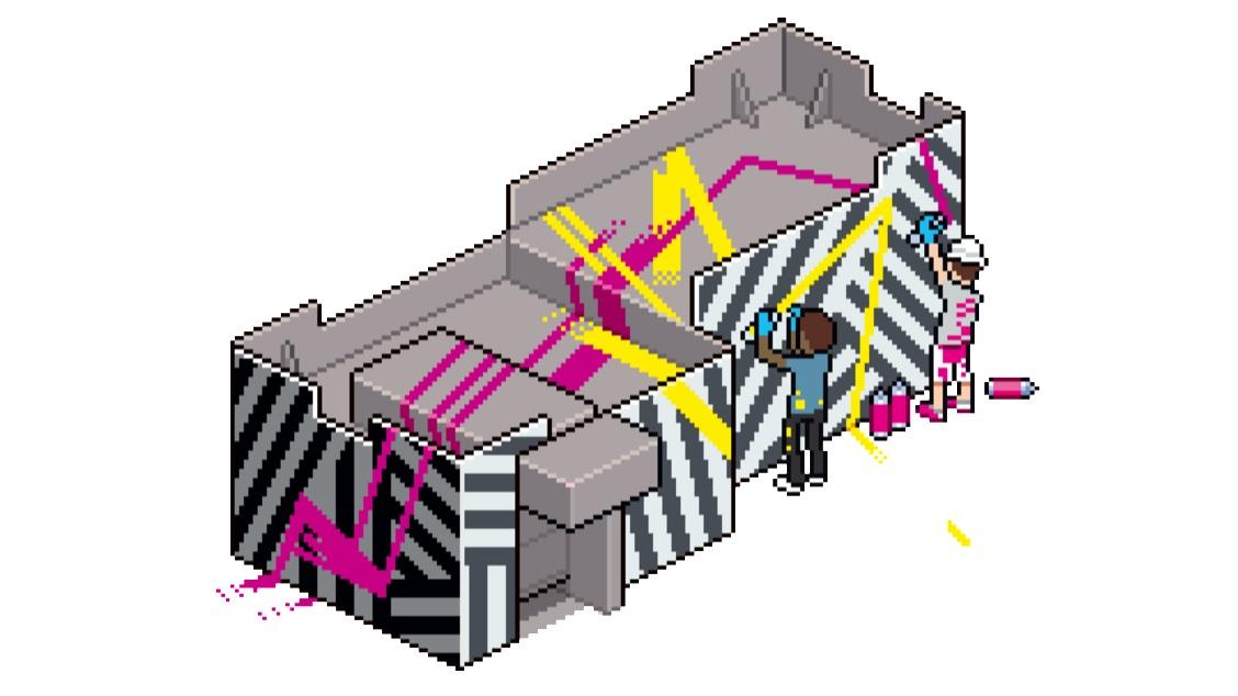 Le bâtiment Goldman en Pixel Art