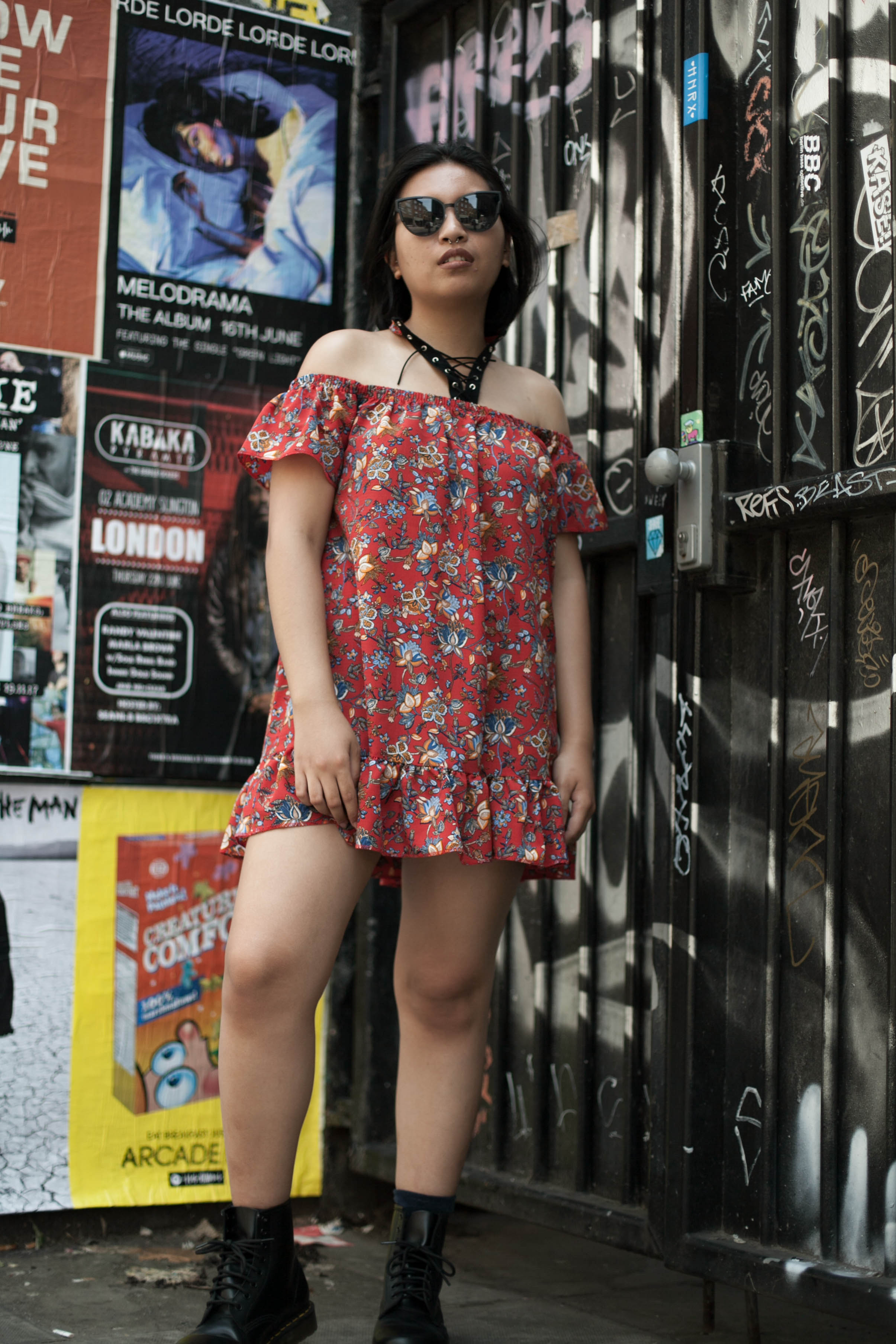 What I wore... - ASOS DressQuay SunglassesDr. Martens boots
