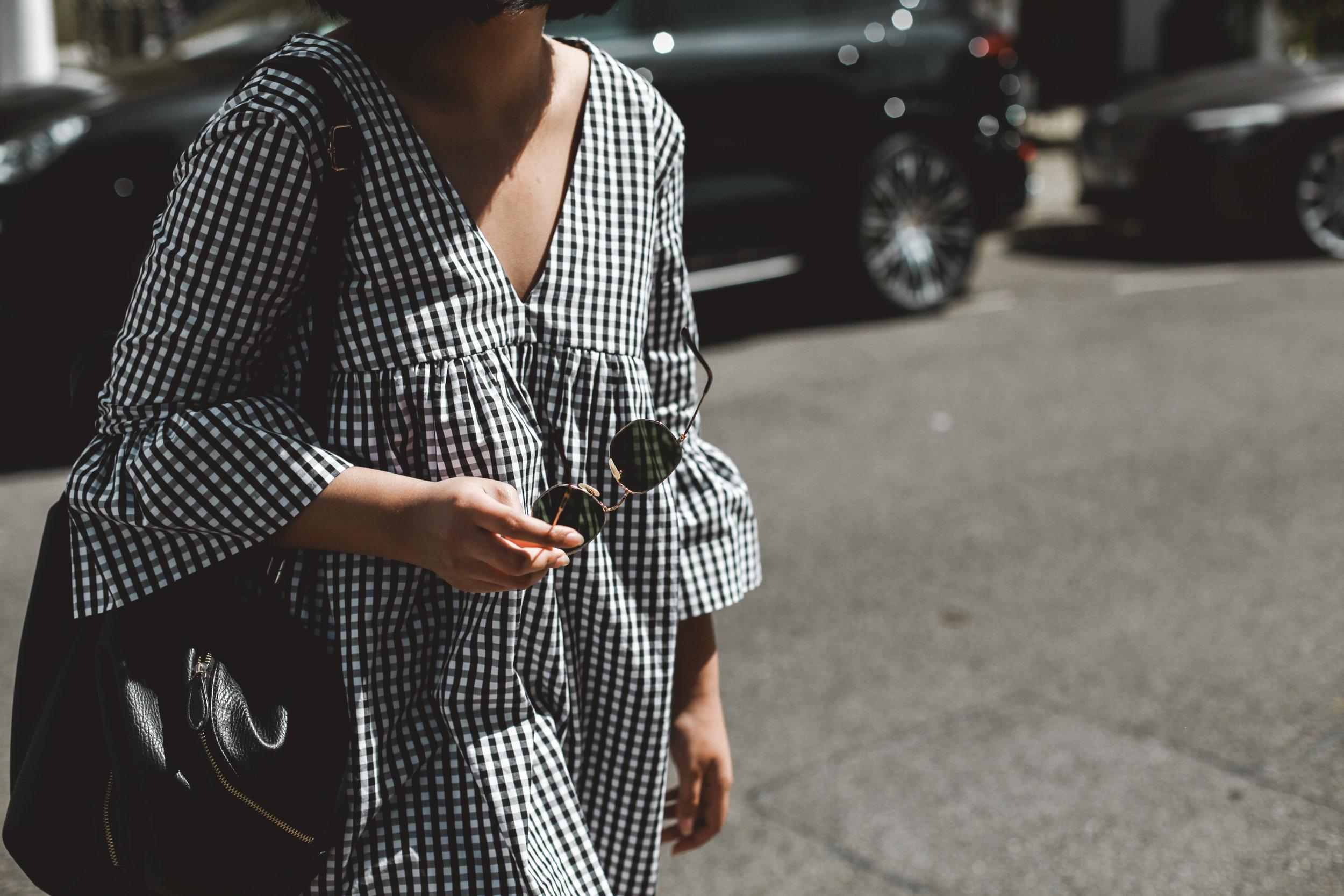 What I'm wearing... - Dress - ZaraShoes - TUK CreepersBag - Urban OutfittersSunglasses - Ray-Ban
