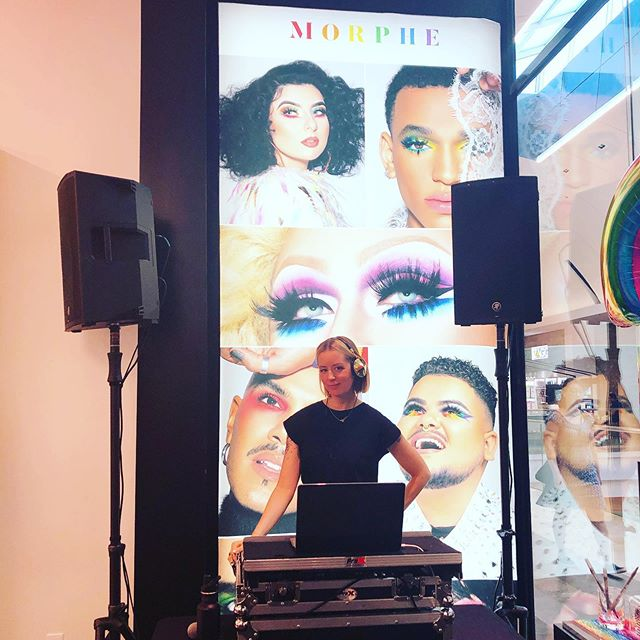 I'm so excited for #pride events all month long! I can't think of a better client to celebrate pride with than @morphebrushes 🌈 Thank you for having me spin and celebrate #love with you! Happy Pride Everyone!