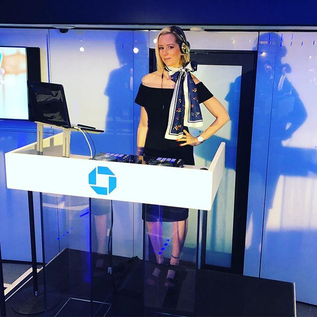 Thank you @totalentertainmentnyc for having me #DJ the grand opening of @chase #manhattan brand new flagship branch! I spent three days spinning parties and celebrating the uniform designs by  @jasonwu and #chase client and #astronaut @stationcdrkelly ! Thank you so much for having me!!