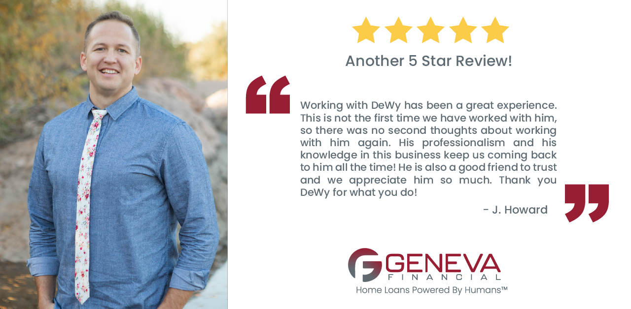 DeWy DeWitt, Branch Manager and Loan Officer serving the states of Arizona and Utah