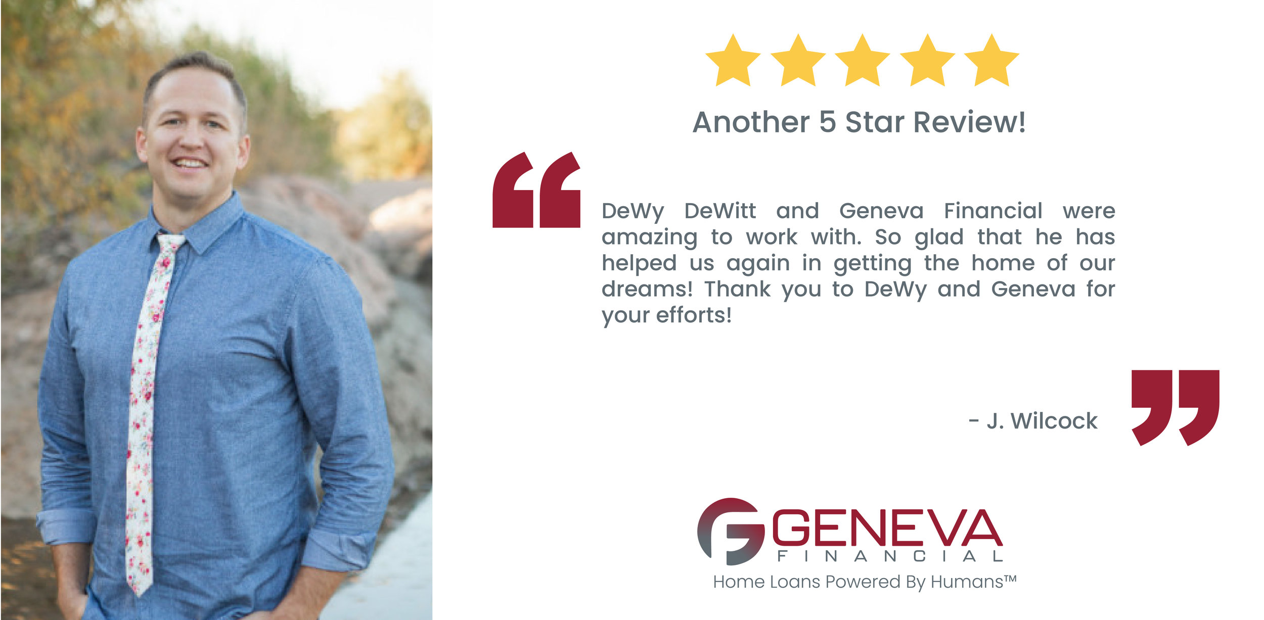 DeWy DeWitt Loan Officer serving the states of Arizona and Utah
