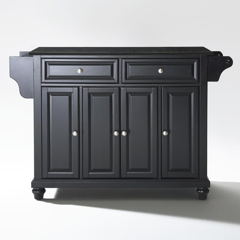 - The Cambridge Kitchen Island with Granite Top by Three Posts, sold by Wayfair, is a handy addition to a kitchen that is lacking.