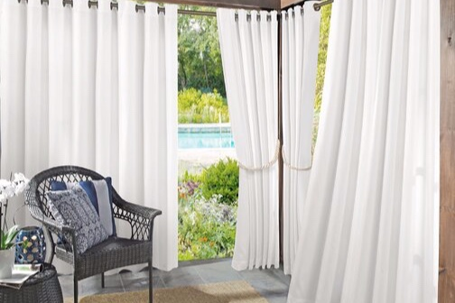 Segment a long width patio, create a cabana or cordon off a private reading nook with budget-friendly outdoor curtains.