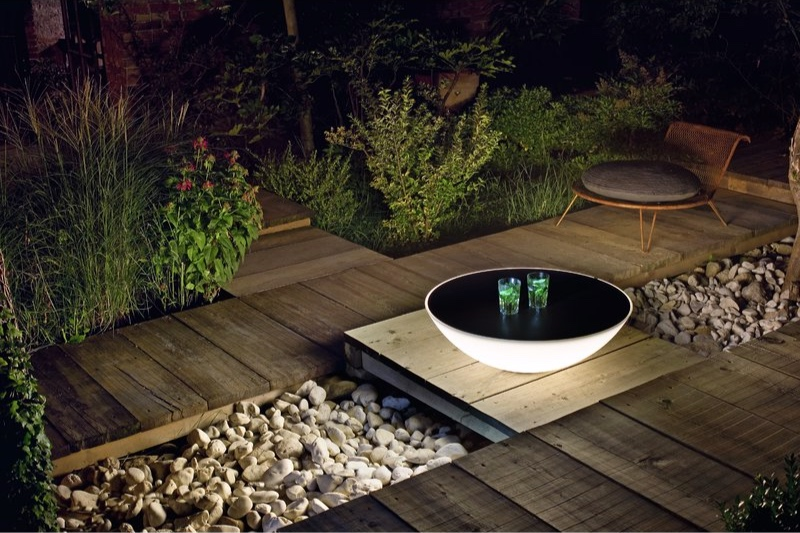 Unique solar lighting features like this  floor lamp from Perigold  saves energy and starts conversations.