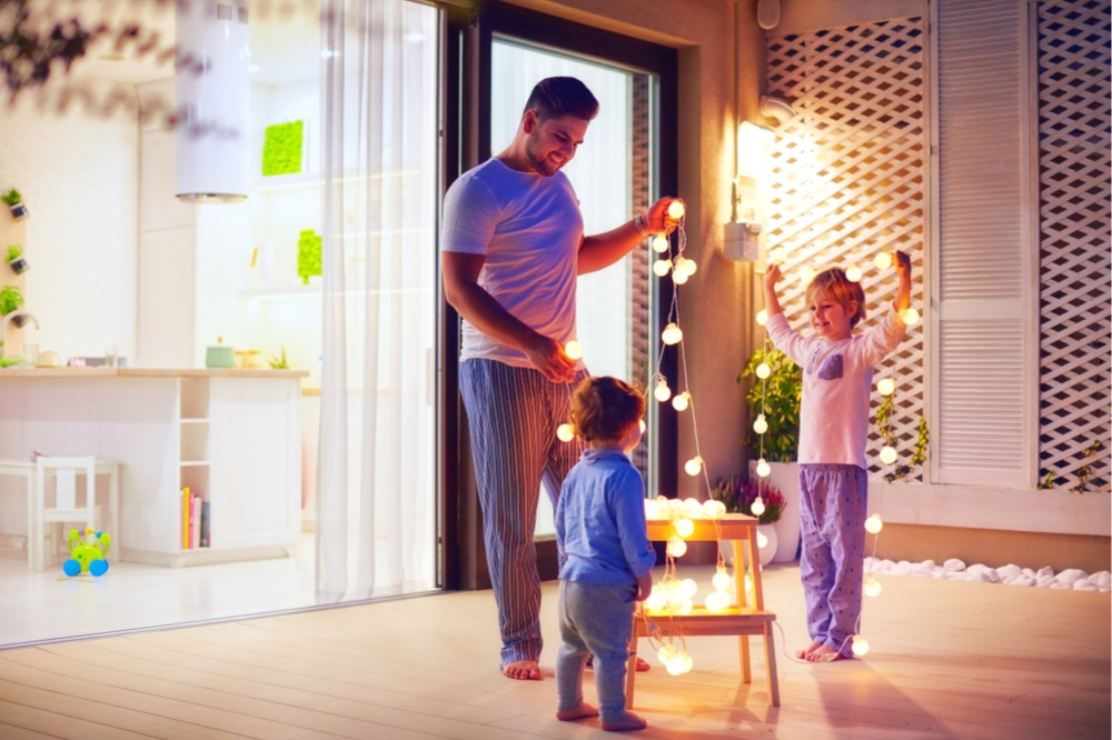 Fun lighting can be inexpensive and helps create an atmosphere everyone will enjoy spending time in.