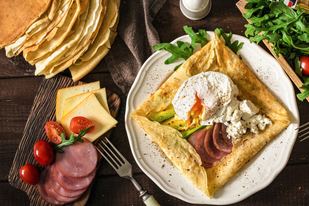 Don't forget the savory fillings in your crêpe bar! Suggest to guests to have a savory one first and then a sweet one to top it off!