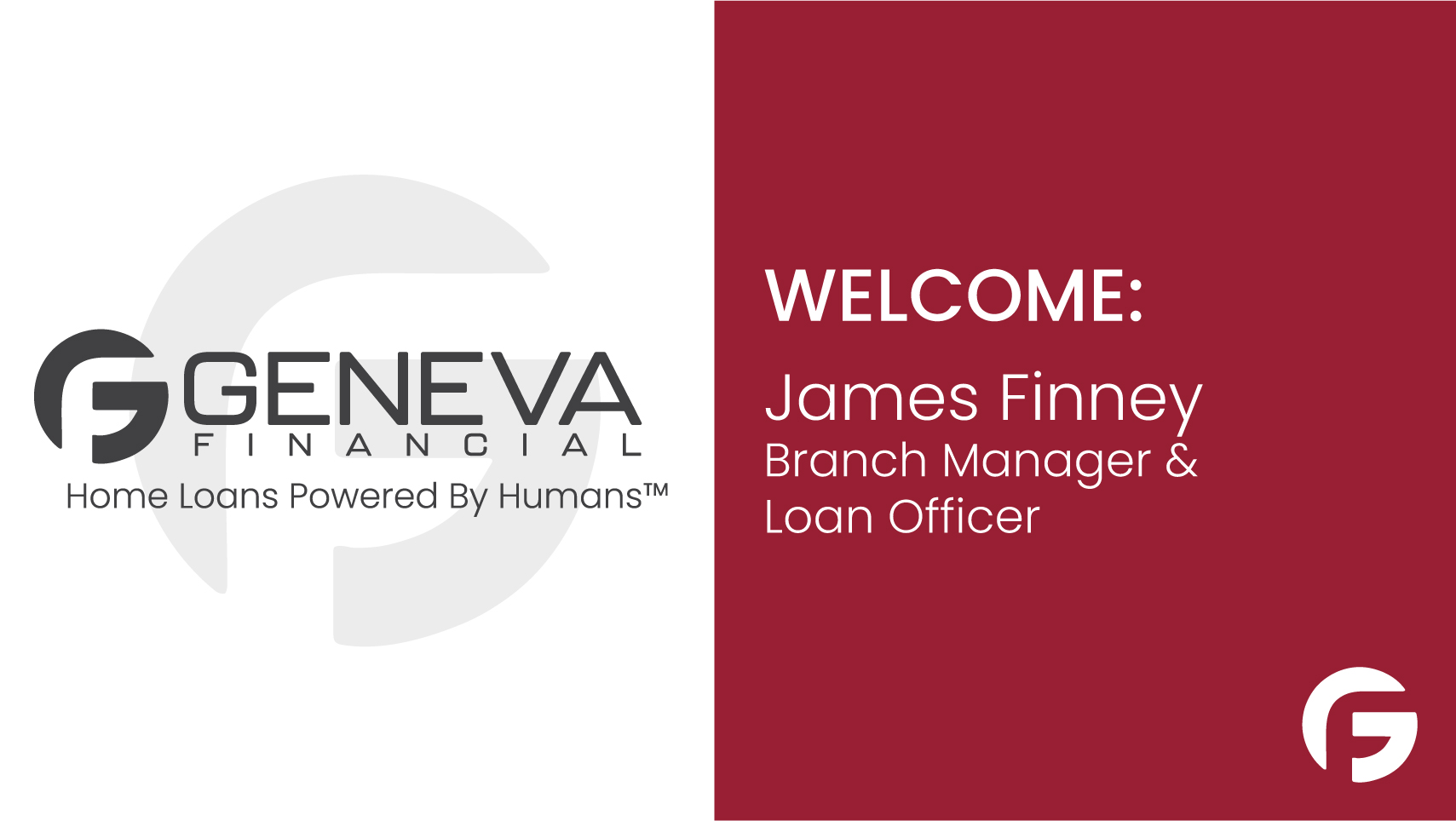 James Finney, Branch Manager and Loan Officer serving the state of Washington