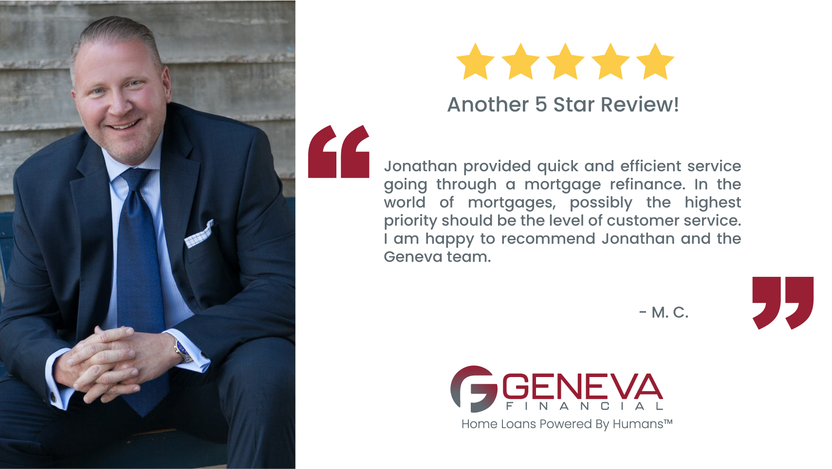 Jonathan Reece Branch Manager and Loan Originator serving the states of Arizona, Michigan, Tennesse, Virginia and California