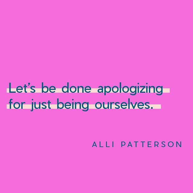 Can we get an amen 🙌? When's the last time you apologized for just being you? We are guessing it was probably pretty recent, maybe even today. You have nothing to apologize for (unless you did something terrible, or hurt someone, then you should definitely say sorry)! Be YOU! ⁣ .⁣ Link in our bio to register for Bloom today! ⁣ .⁣ #Northeastwomen #bloom #bereal #beyou #befree #women #louisville #louisvillewomen