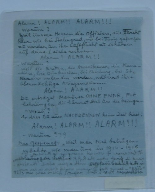 One of their notes aimed at ordinary German soldiers