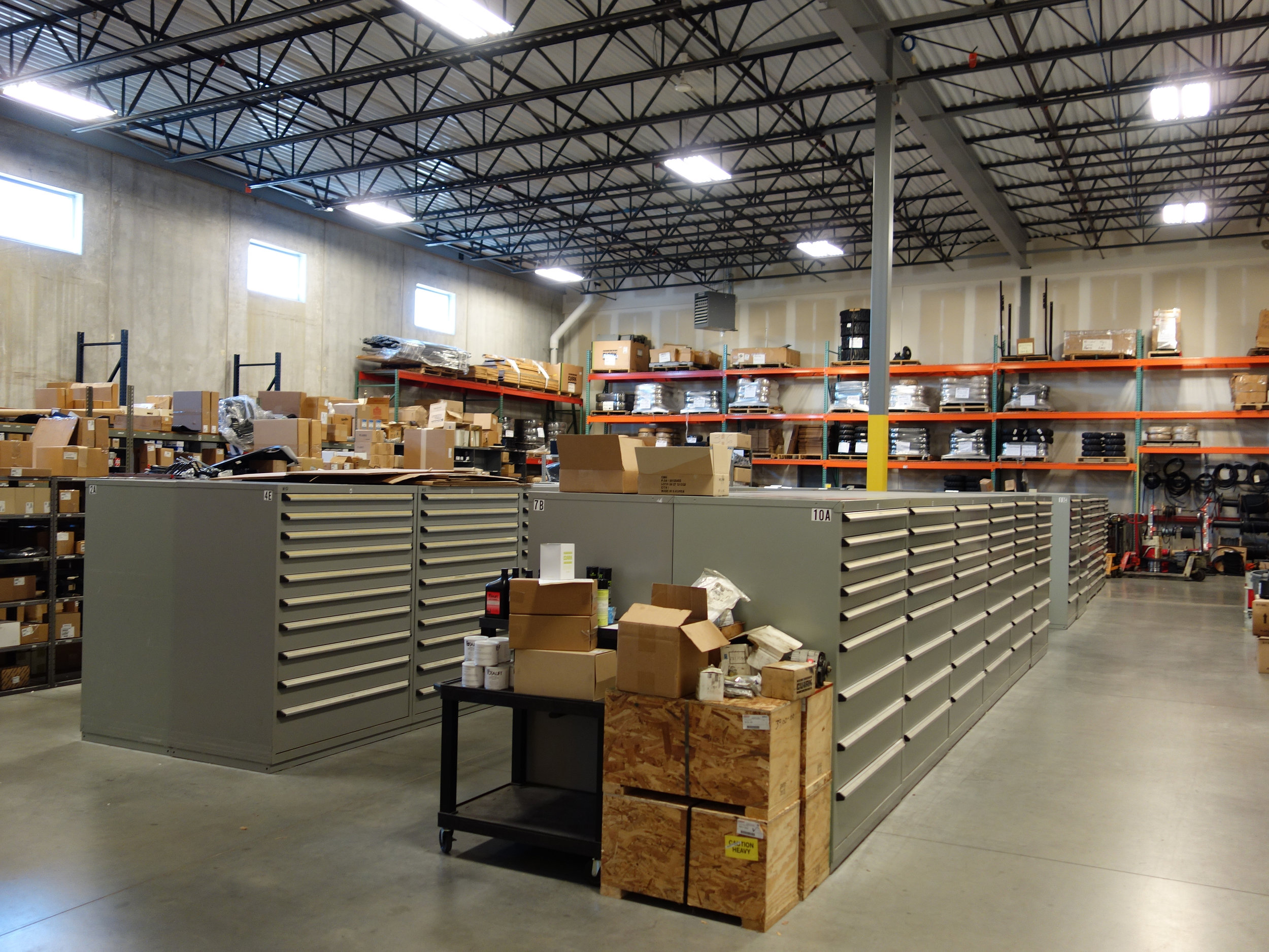 Heavy Machinery Parts Inventory