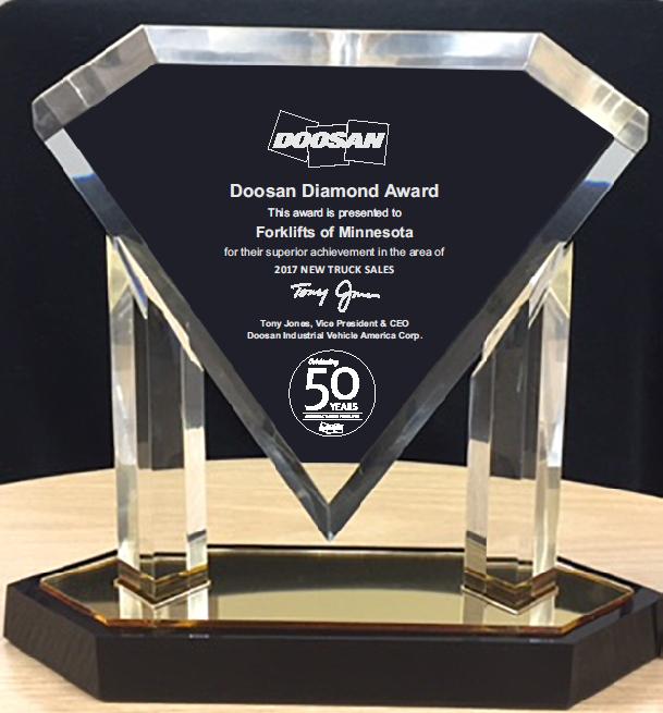Doosan Diamond Award Winner