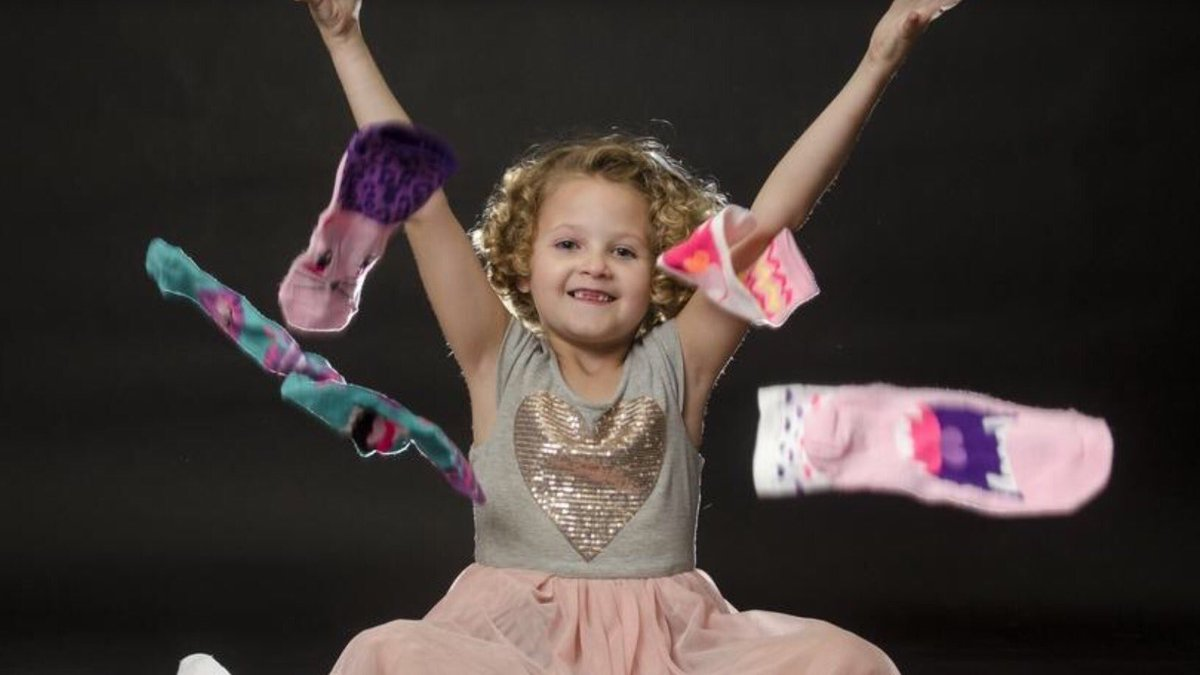 Mia Clayton, from Apple Valley, California, has been participating in Socktober ever since she was four. Her organization, Mia's Boxes of Love, was awarded a Disney Summer of Service grant last year for her efforts. She donated over 18,000 pairs of socks in three years!