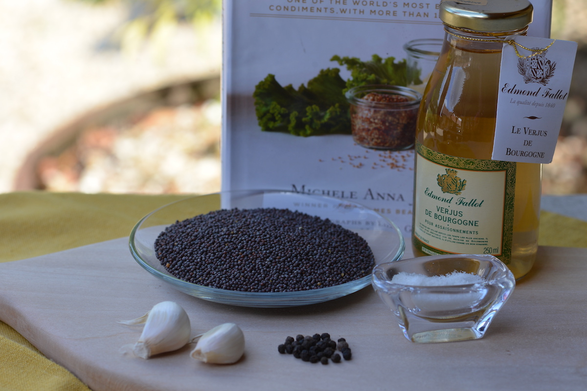 Mustard in the kitchen!Cooking Classes in Gevrey Chambertin -