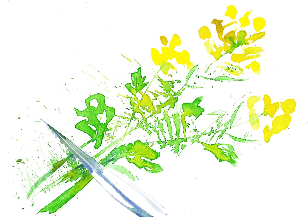 image designed for The Purple Mustard Club by calligraphic artist Els Baekelandt