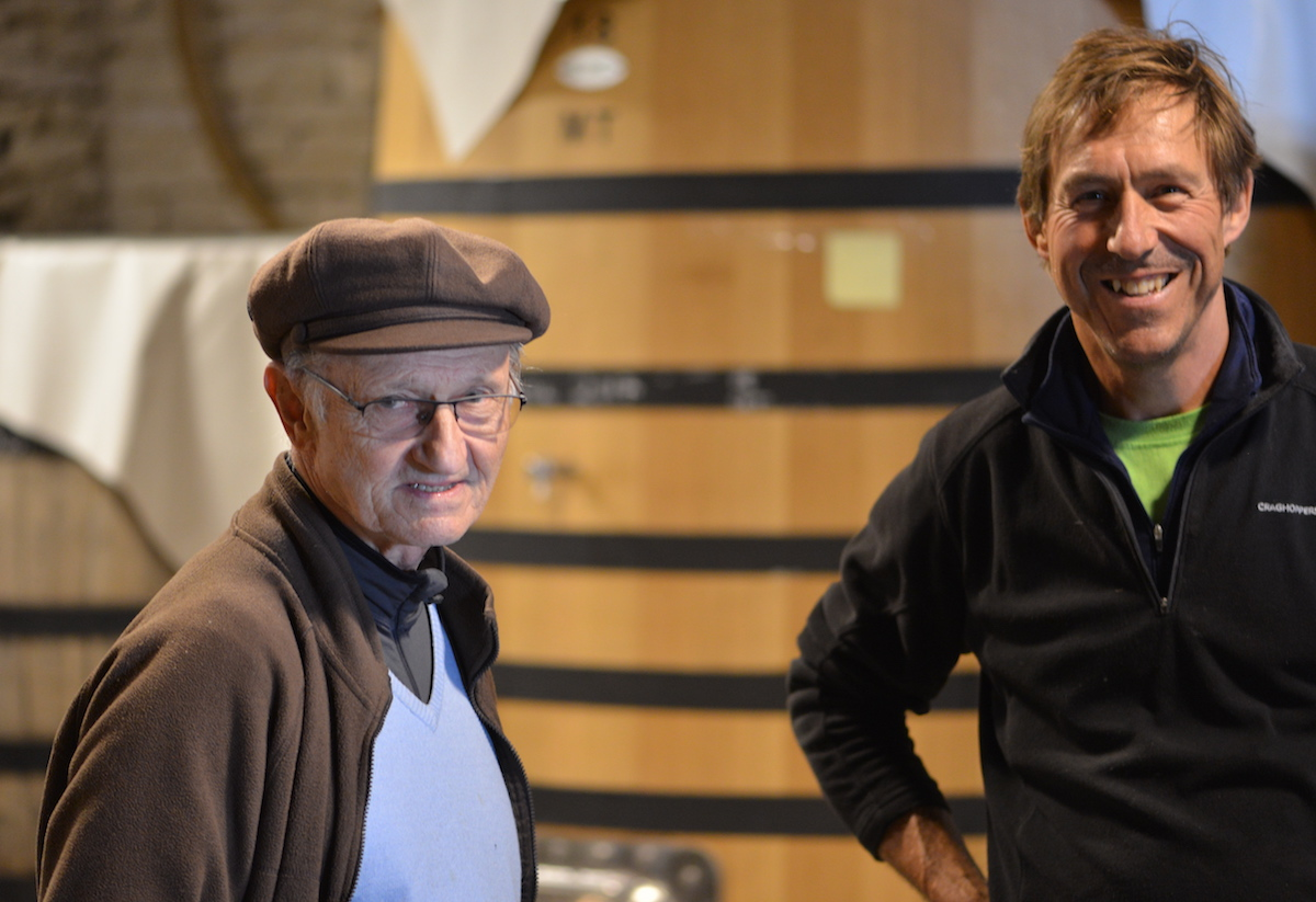 Bernard Maume with winemaker Mark Fincham