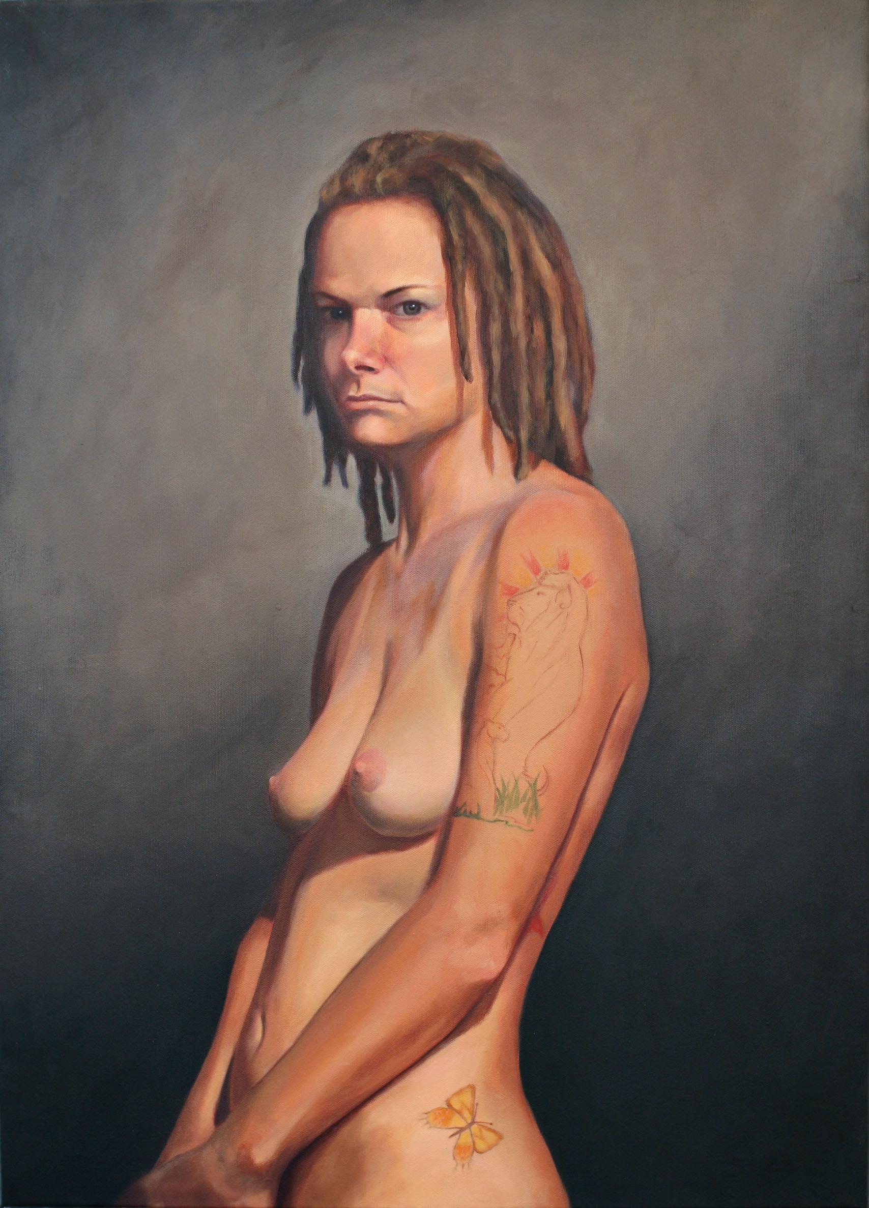 """Shaina  oil on canvas 36"""" x 26"""" 2010"""