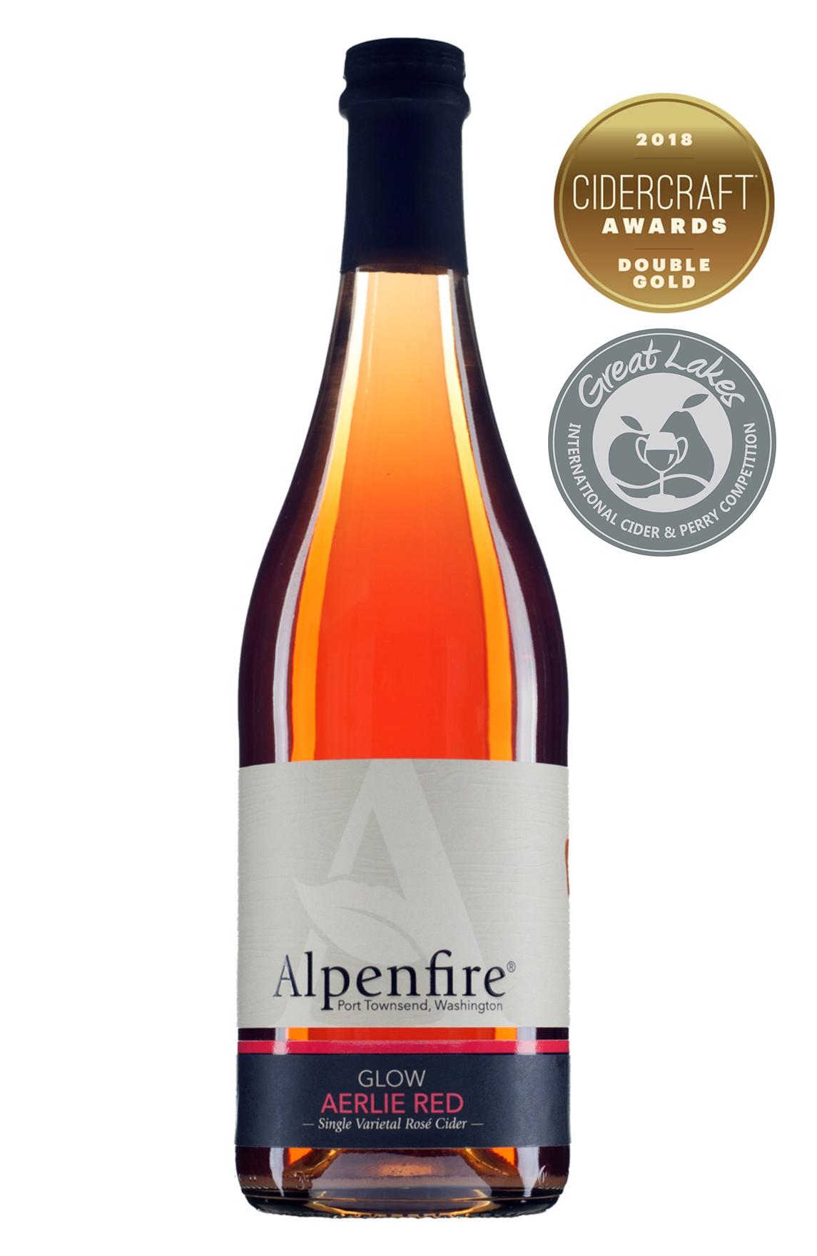 Glow Aerlie Red   Award Winning Single Varietal Rose Cider