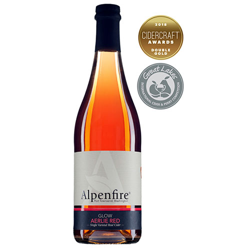 Alpenfire Glow Aerlie Red Rosé Cider ~ Cidercraft Double Gold Award Winner