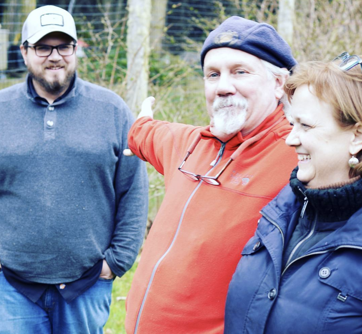 Alpenfire is a small batch cidery and family farm, and we all share the work: Bear tends the orchard, Nancy makes the cider, our son Philippe markets the business, and our grandkids make frequent appearances.
