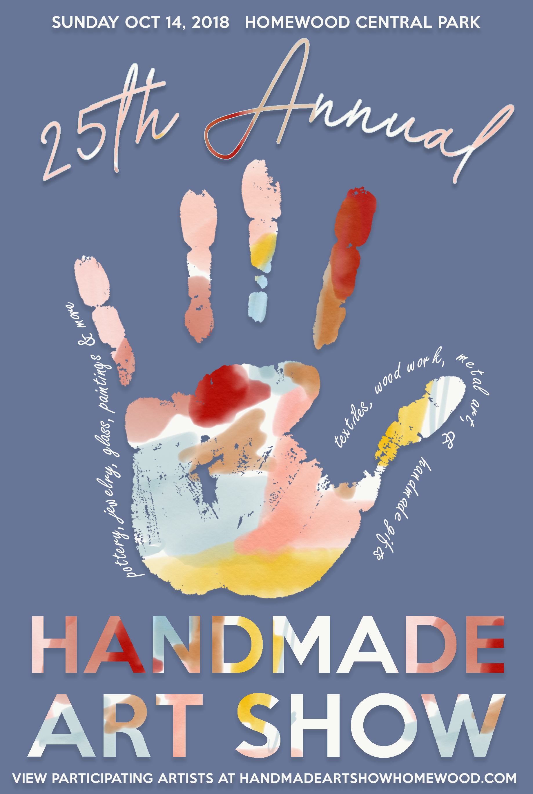 Pay your booth fee - If you've already been accepted to participate in the 26th Annual Handmade Art Show, use this link to pay your booth fee
