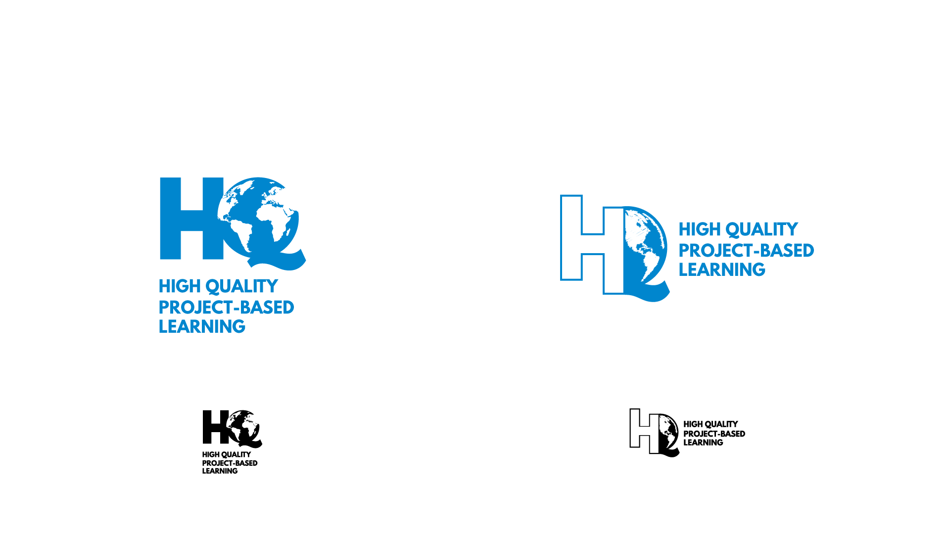 Given the relatively long brand name, the student designer of this concept felt passionately about creating a mark that focused on HQ as an iconic brand. The student took an existing sketch and incorporated the feedback we received to include an earth or a globe.