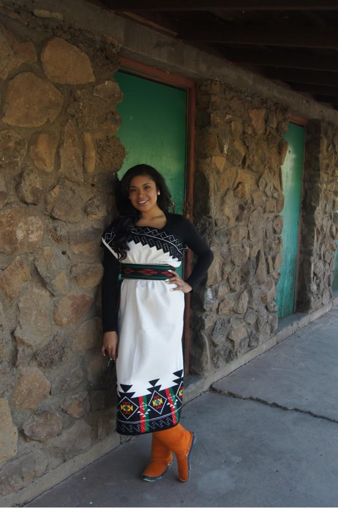 New Mexico_Malia Luarkie is a member of the Pueblo of Laguna and an active part of her community and traditions.  She is an aspiring fashion designer, currently working toward a degree in design..jpg