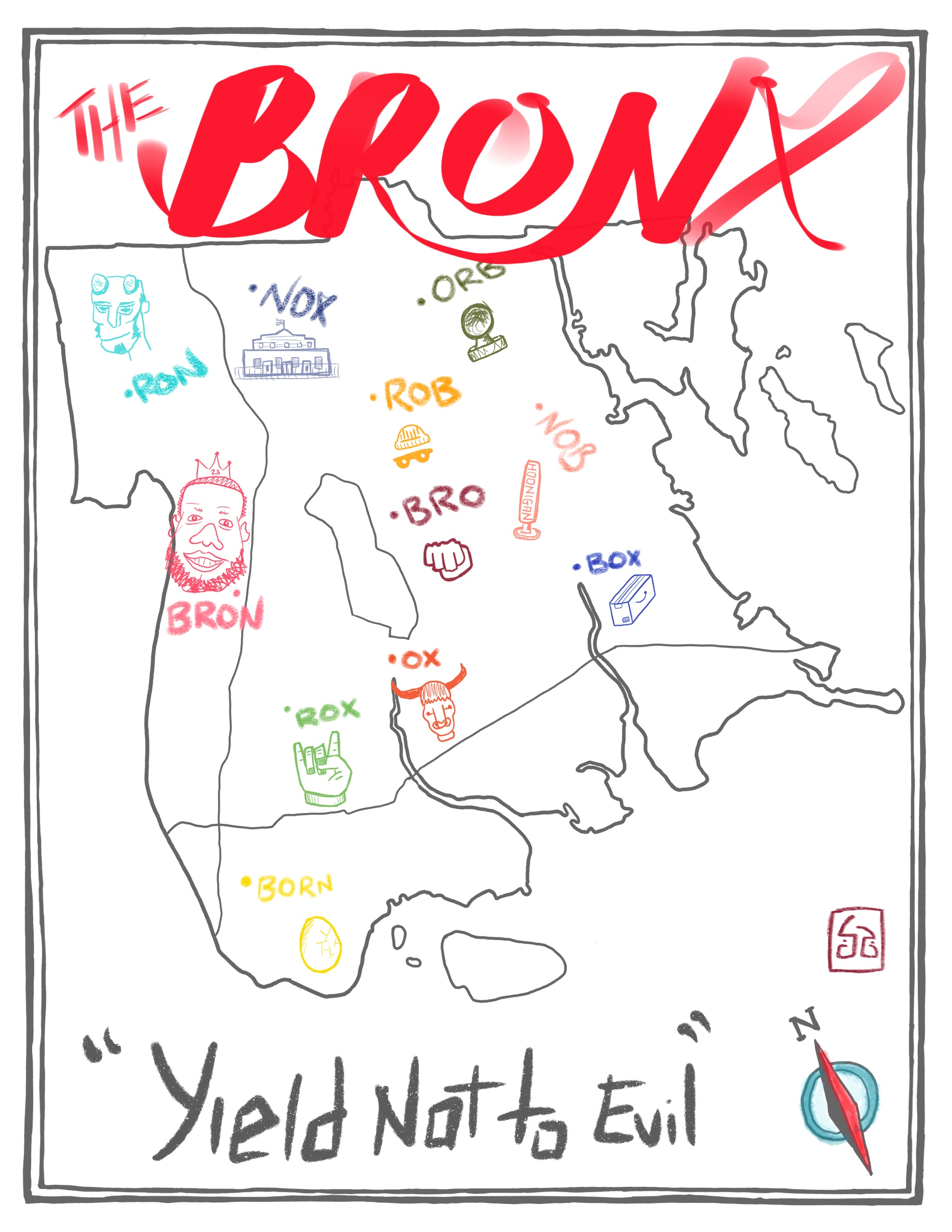 Simon G, Mapping the Bronx