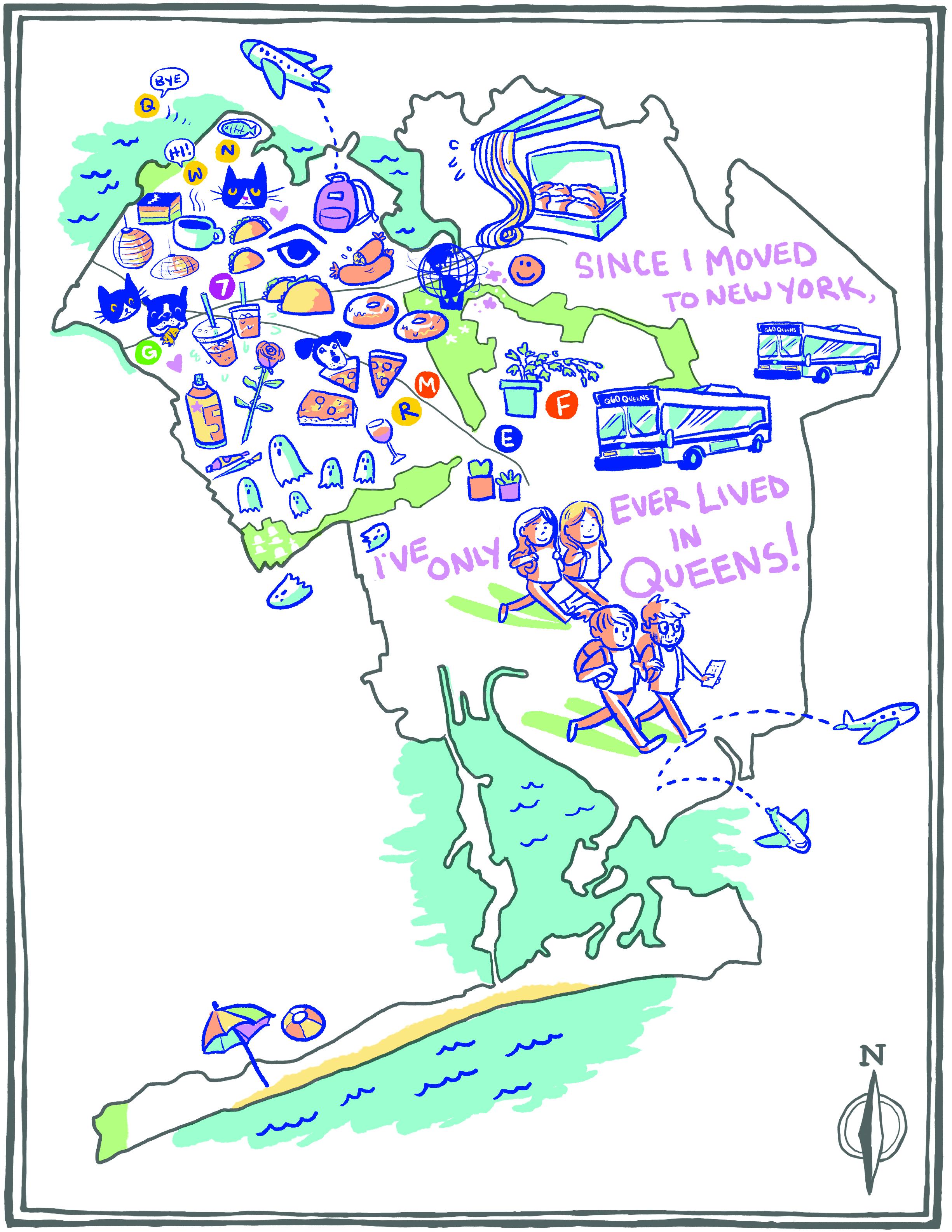 Samantha Schroeder, Mapping Queens