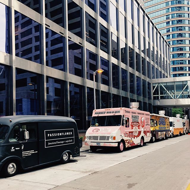 Front of the line! Downtown today until 1:30ish. See you soon!