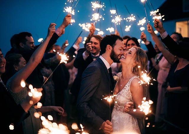 "Christopher and Marte had a picture perfect wedding in Stavanger, Norway on Saturday, but it didn't just LOOK good... They honestly had a great time and I can't remember the last wedding where there were so many tears of joy! 😂 I documented everything I could, and while the party went on, the sparkler exit is where it really felt ""complete"" for me. I mean, just look at them! 🎇 🎇 . . . #stjerneskudd #stavangerbryllup #bryllupsfotograf #bryllup2020 #bryllupstavanger #bryllupsinspirasjon #forlovet #bryllupsplanlegging #jærbryllup #forlovet #jæren #solastrandengård #norwegianweddingblog #norwayphotographer #kjærlighet #dittbryllup #kjærleik #lofotenfotograf #blikkfangerne #nordiskebryllup #junebugweddings"